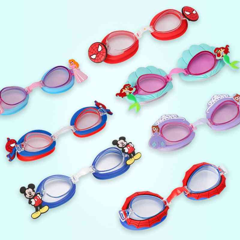 Durable Silicone Cartoon Swimming Glasses, Kids, Child, Goggles