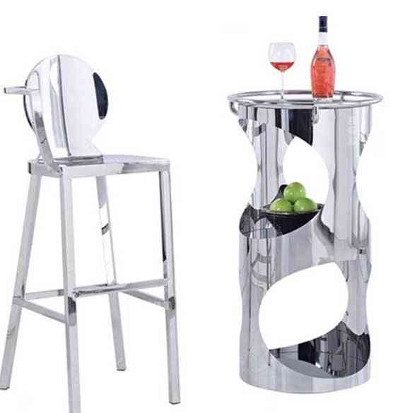 Stainless Steel Counter Stool Bar Table