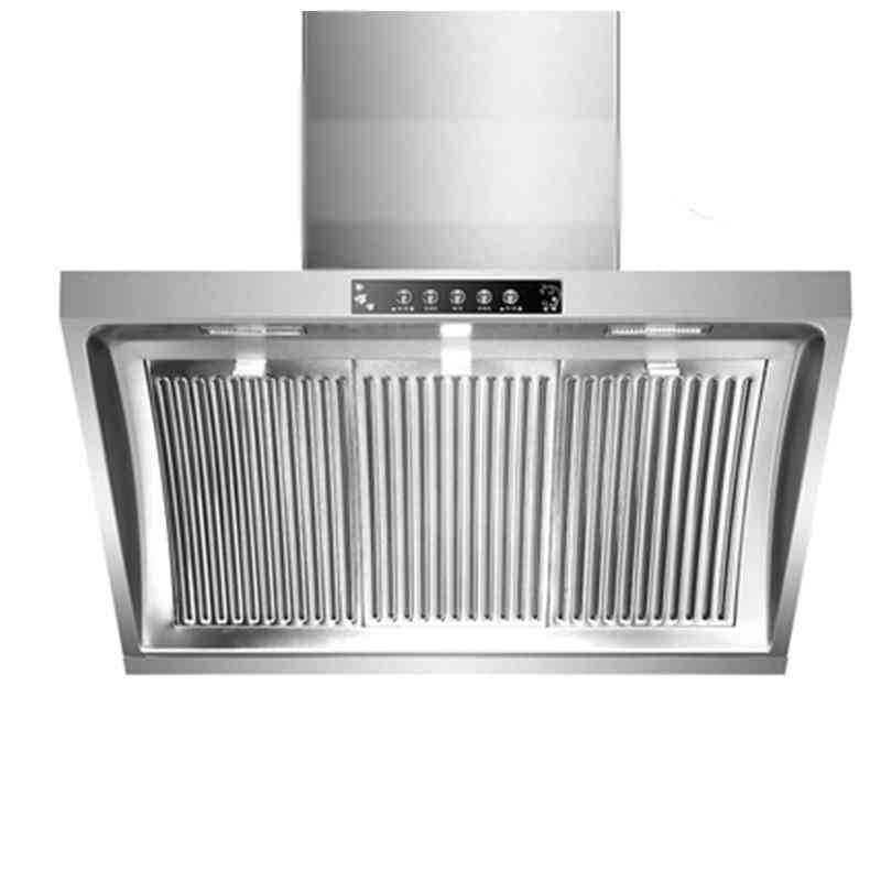 Range Hood Extractor Side Big Suction With Double Motors Stainless Steel Panel