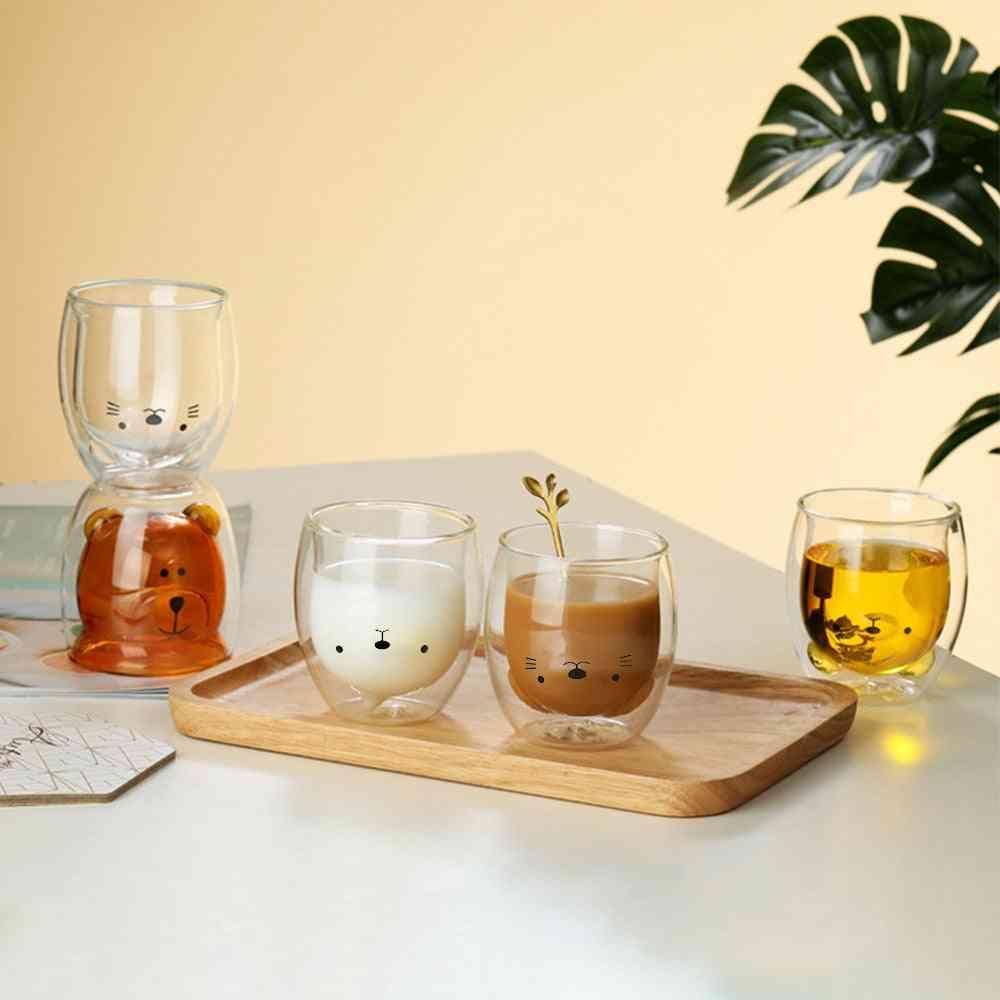 Creative Cute Bear Double-layer Coffee Mug