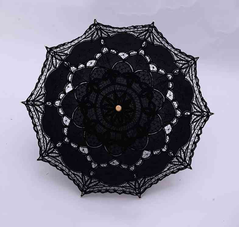 Vintage Victorian Lace, Manual Opening, Wedding Bridal Umbrella