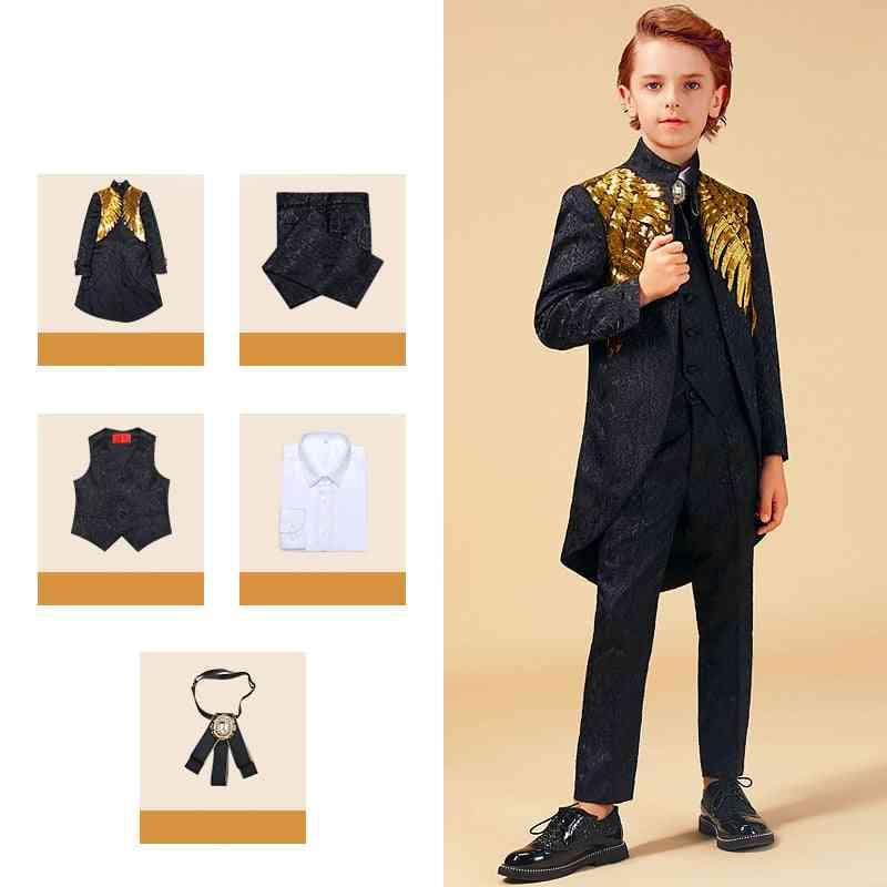 Gold Sequins, Enfant Garcon, Jogging Blazer Suit For