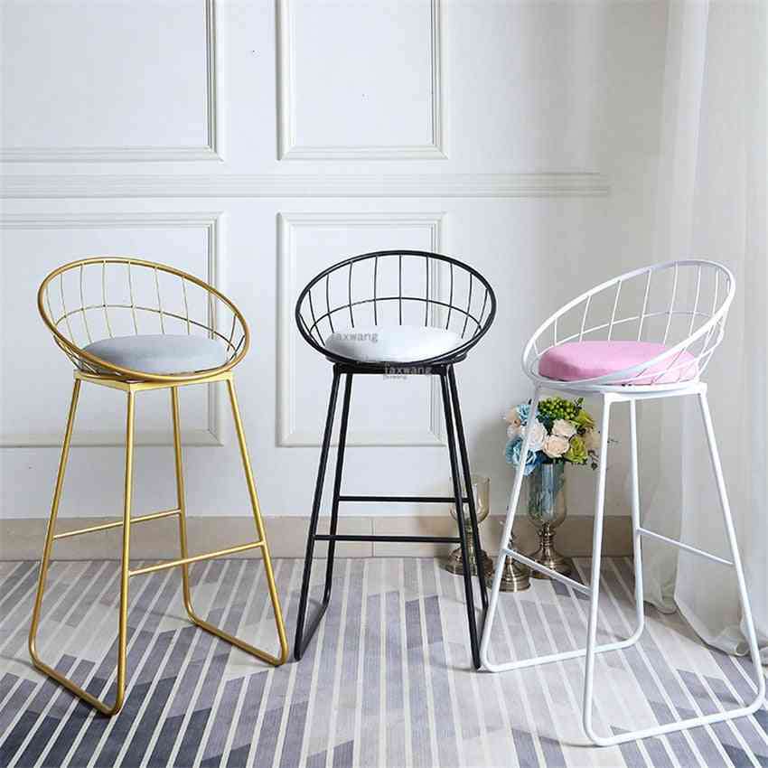 Modern Dining, Pub Bar Wrought, Iron Stool Chair Accessories