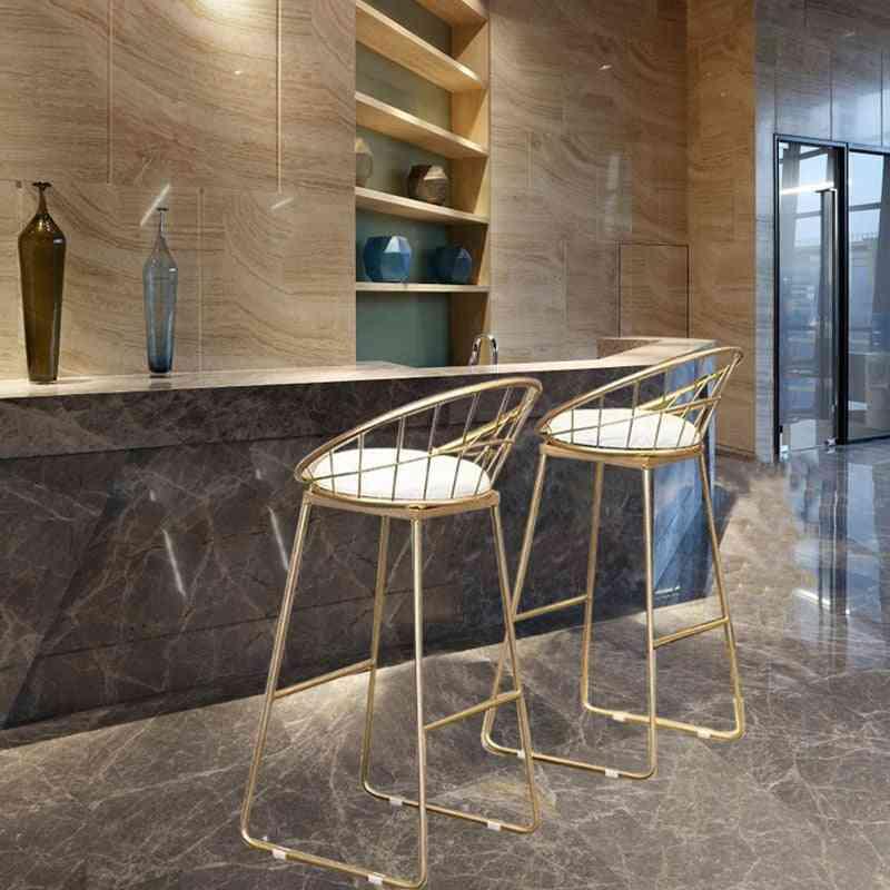 Modern Dining- Tabouret High Wrought, Iron Bar, Stool Chair