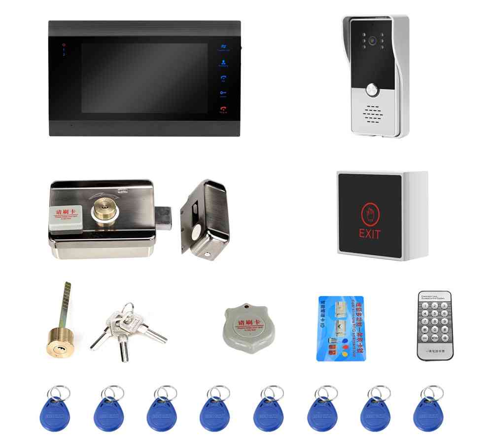 Wired Video Door Phone For Intercom Security System Monitor Wide Angle Doorbell Camera
