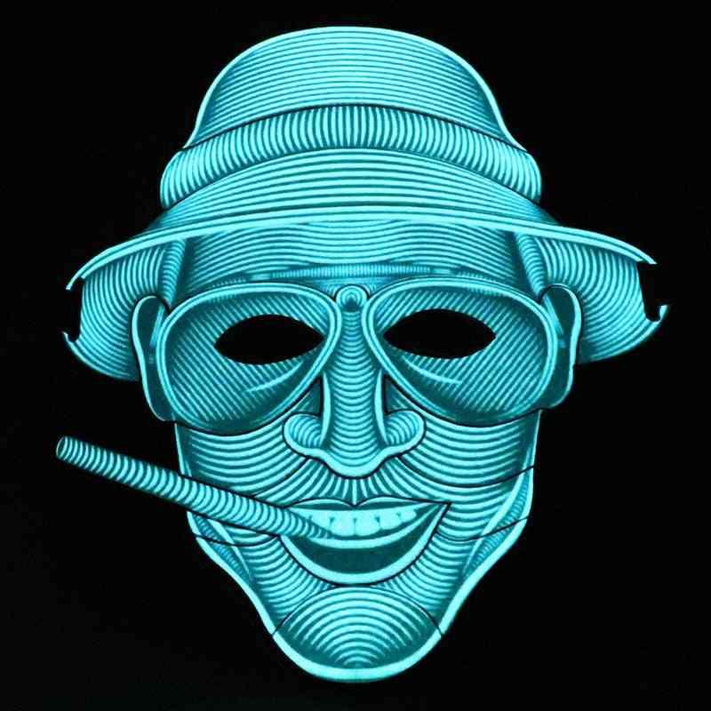 Light Up Luminous Led Halloween El Wire Mask