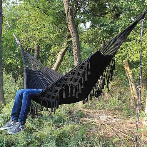 Large 2 Person Double Deluxe Swing Net & Hanging Chair, Hammock