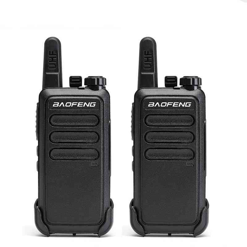 Mini Walkie Talkie Set, Portable Usb Charge Handheld Two Way Radio Hunting Hiking