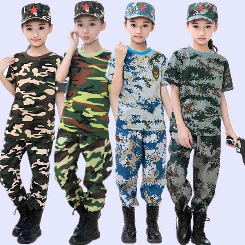 Children Military Training Uniforms Clothing Set