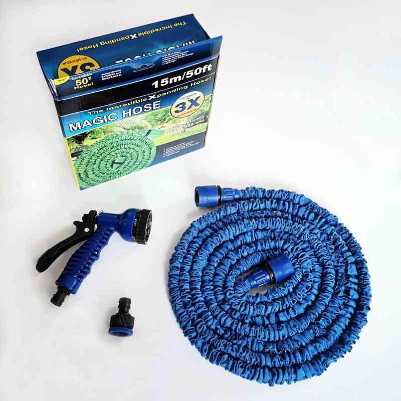 Garden Magic, Flexible Water Eu Hose, Plastic Pipe With Spray Gun