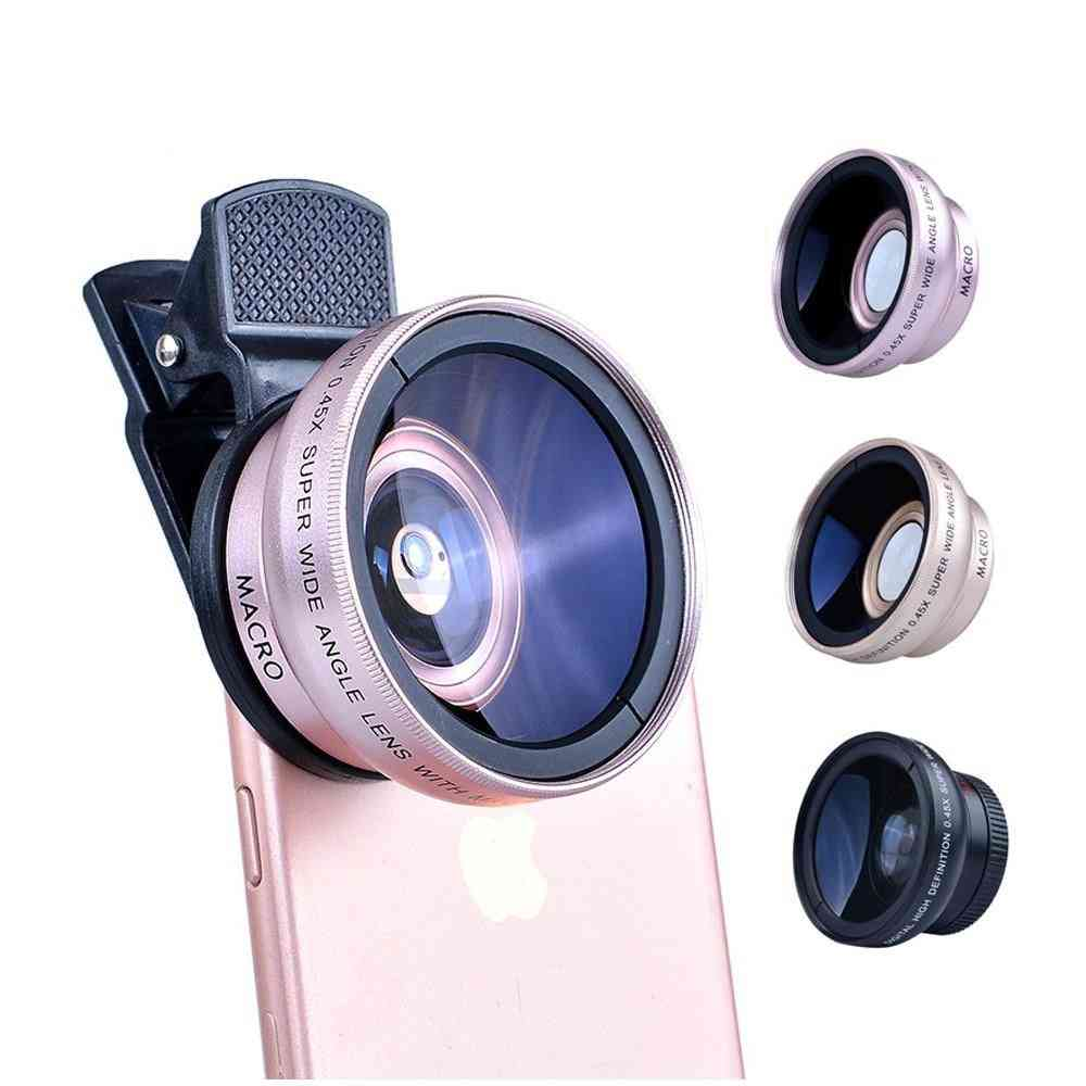 2-in-1 Wide Angle, Macro Professional Hd Phone, Camera Lens