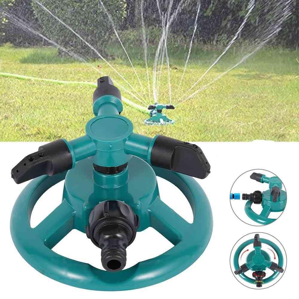 Garden Irrigation, Three-pronged Rotating, Automatic Circular Sprinkler