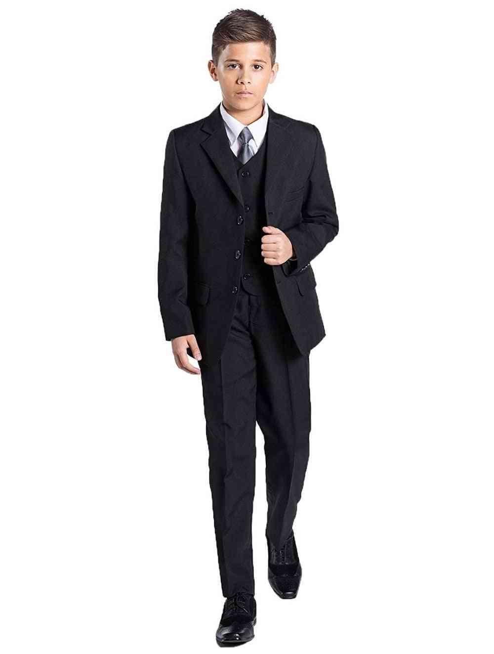 Tuxedo Fist Communication Party Wear Suit For Boy's