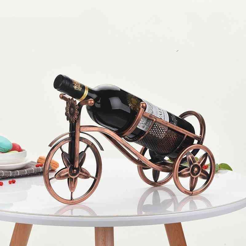 Wine Rack, Retro Tricycle Storage Display Shelf