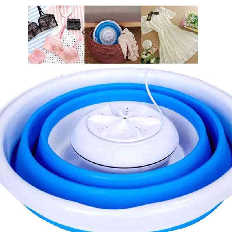 Foldable Rotating Ultrasonic Turbines -mini Washing Machine