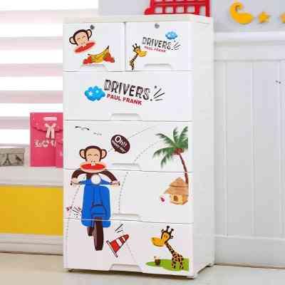Plastic Cartoon Wardrobe, Baby Clothes Cabinet