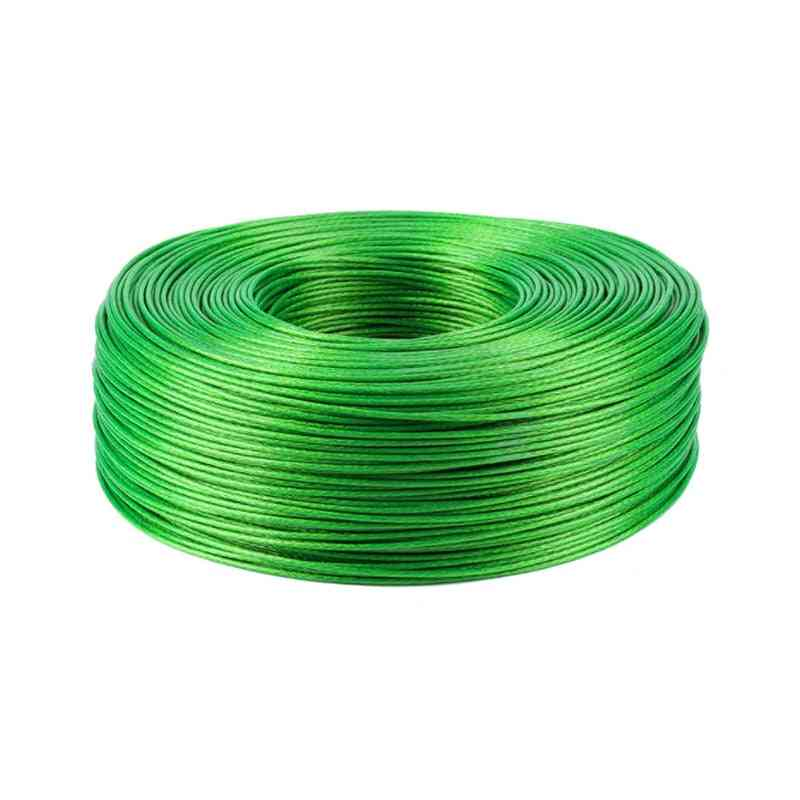 Steel Green Pvc Coated Flexible Wire Rope Cable