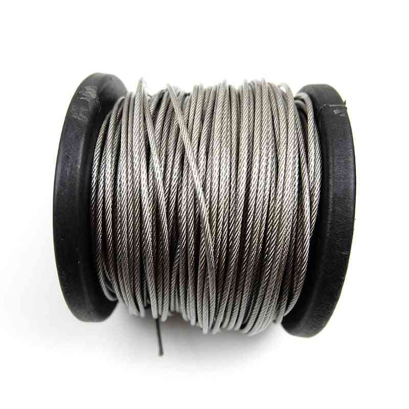304 Stainless Steel Pvc Coated Flexible Wire Rope Soft Cable Transparent Clothesline