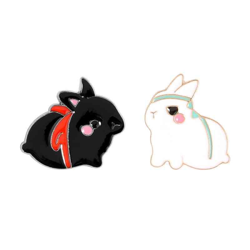Rabbit Brooch Bag Clothes Lapel Pin Button Badge