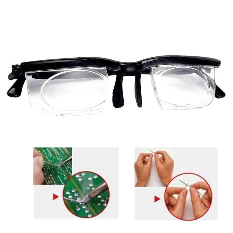 Adjustable Strength Lens Eyewear Variable Focus Distance Vision Magnifying Glasses