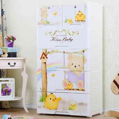 Kids Wardrobe Plastic Storage Cabinet Furniture