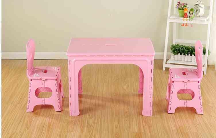 Children's Kinder Garten Plastic Folding Table And Chair Set