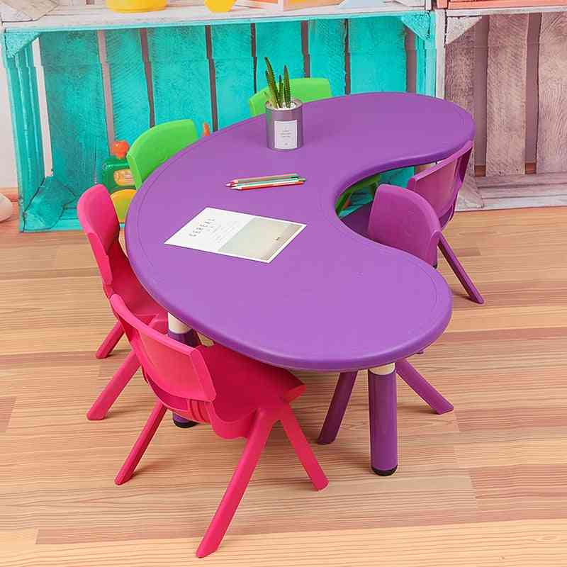 Children Tables And Chairs Plastic Baby's Study Toy