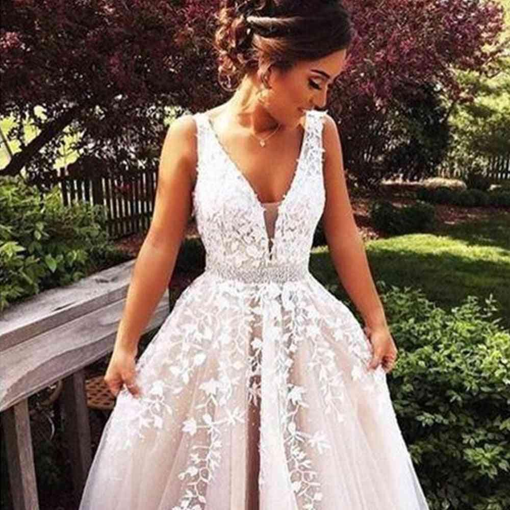 Floor Length, A-line Backless Dress