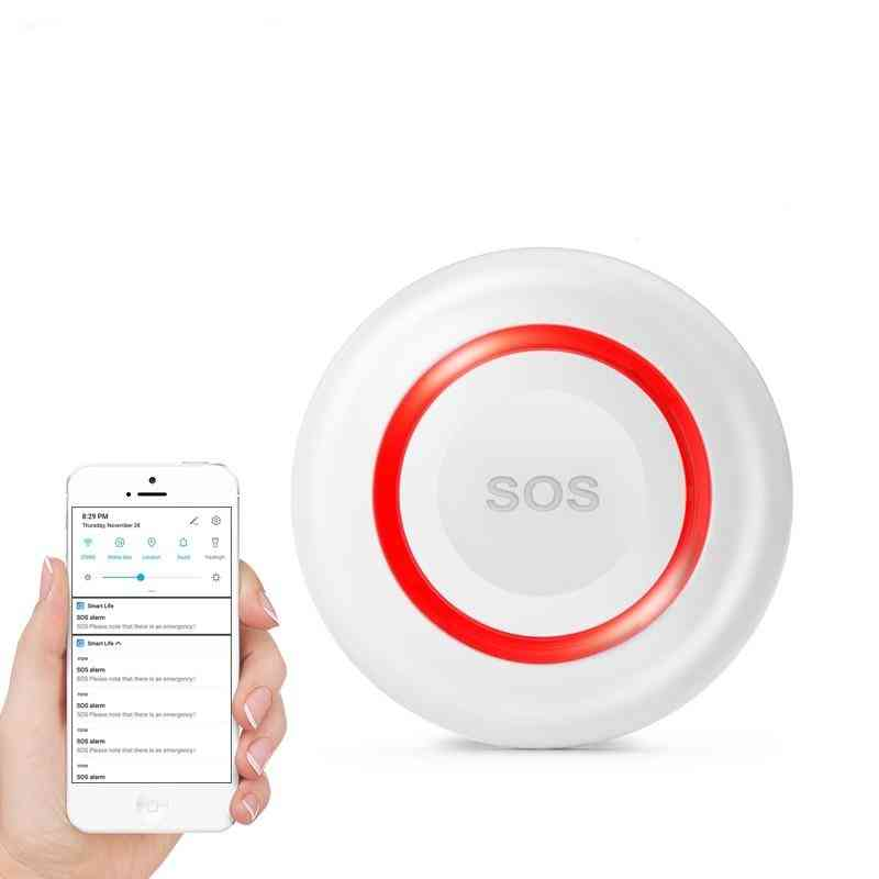 Wifi Sos Wireless, Emergency Button Alarm For Home Burglar