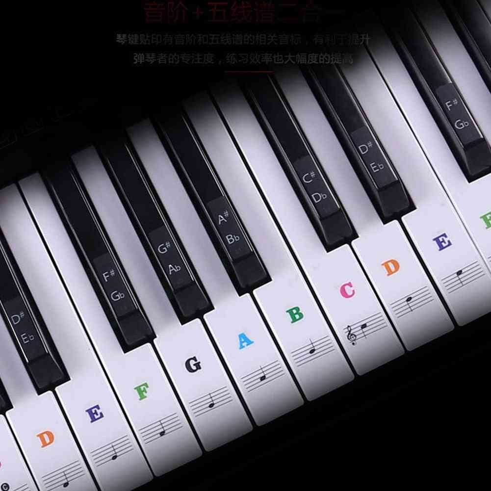Transparent Detachable, Music Decal Notes Piano, Keyboard Stickers