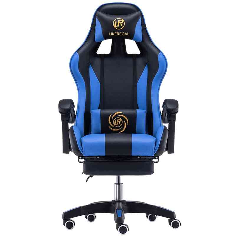 Household Reclining Office Chair With Footrest Racing Seat