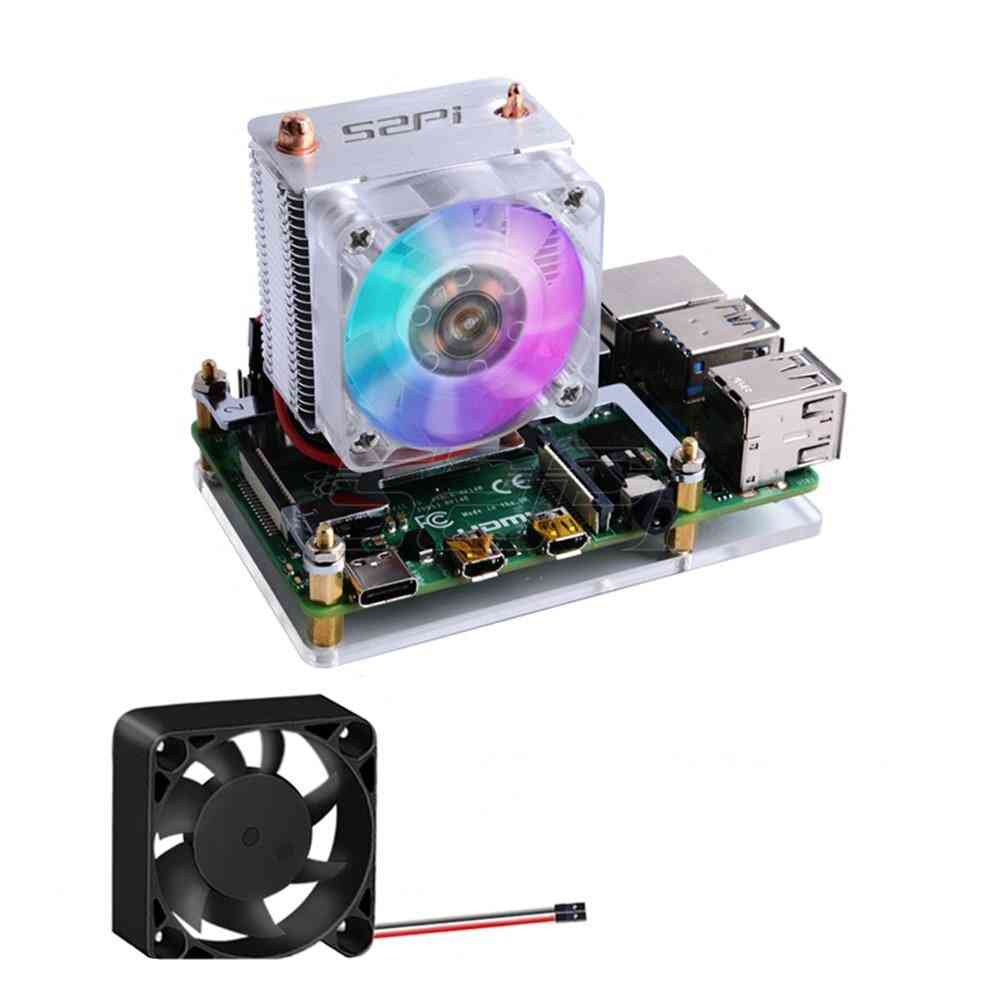 Ice Tower- Rgb Cooling Fan, Copper Tube Cooler With 5-layer Case