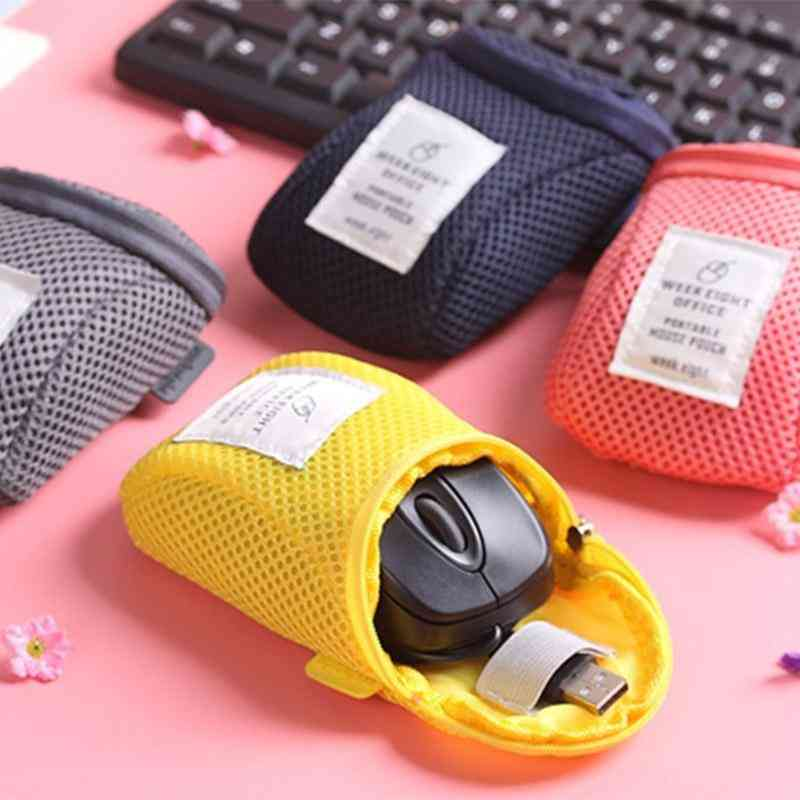 Portable Storage Bag, Usb Cable Earphone & Wireless Mouse Pouch Cover Case
