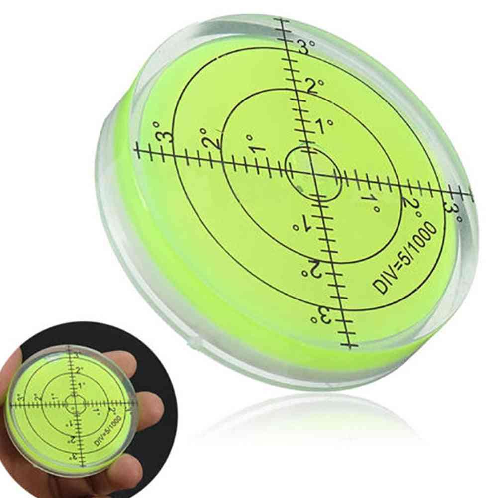 Spirit Bubble Degree Mark Surface Level Round Measuring Meter Kit