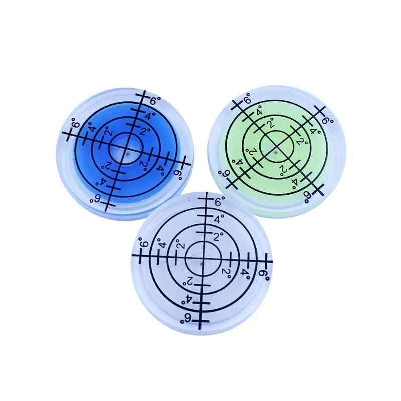 1 Pcs Plastic Bullseye Bubble Level Round Level Bubble Accessories