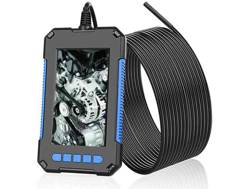 Industrial Endoscope, Camera 1080p Hd Lcd Screen Rechargeable Battery Borescope