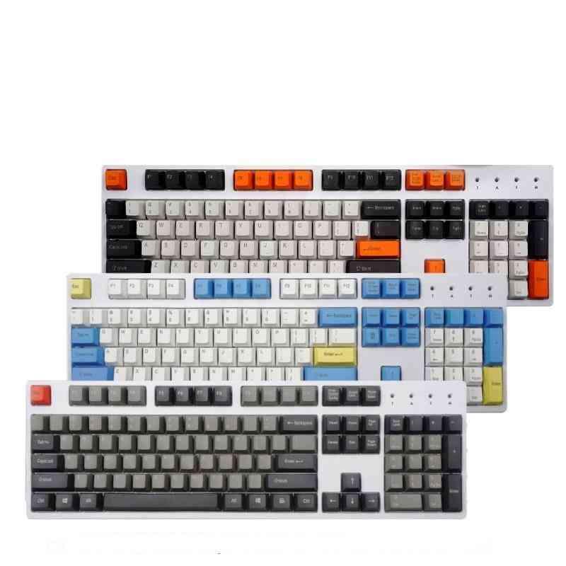 108 Key Chalk Key Cap Set For Mechanical Keyboard