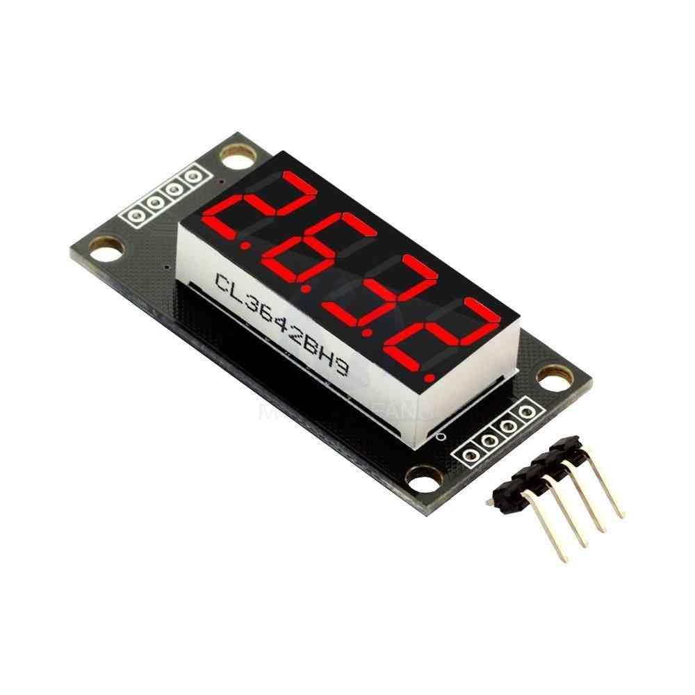 Tm1637 7 Segments Digital Display, 4-digit Led Module Board For Arduino