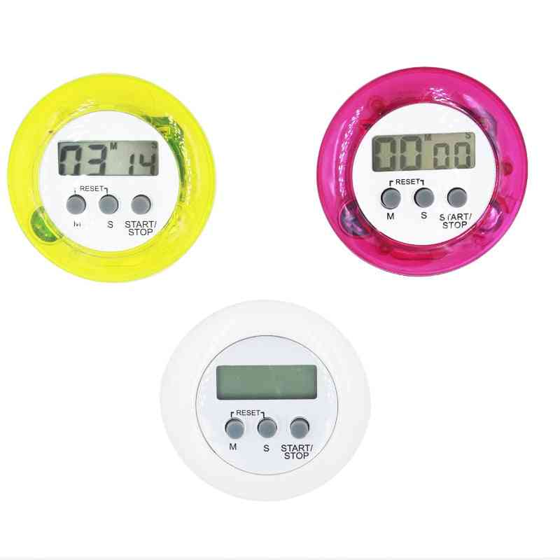 Round Electronic Timer, Lcd Digital Countdown Timing Tool