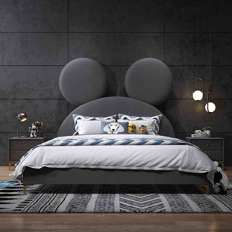 Girl's And Boy's Nordic Fabric Double Bed
