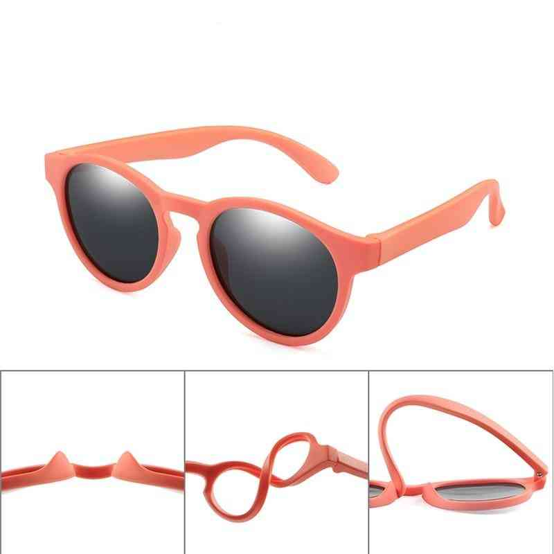 Uv400- Colorful Polarized, Round Sun-glasses Eyewear, Silicone Eyeglasses