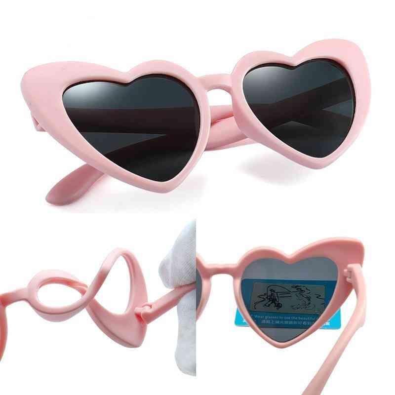 Uv400 Polarized Flexible Heart Sunglasses