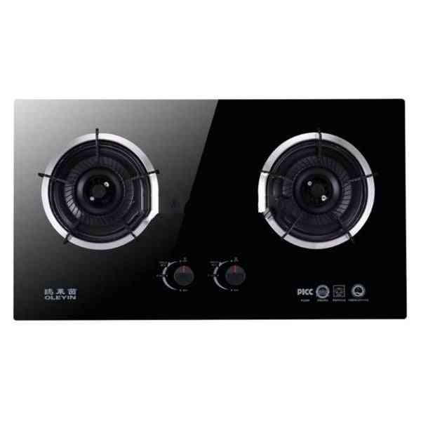 Double-burner Gas Panel Furnace Tempered Glass Gas Stove