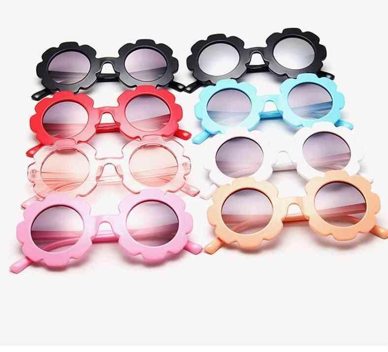 Uv400- Round Flower Sun-glasses, Sport Shades Eyewear For &