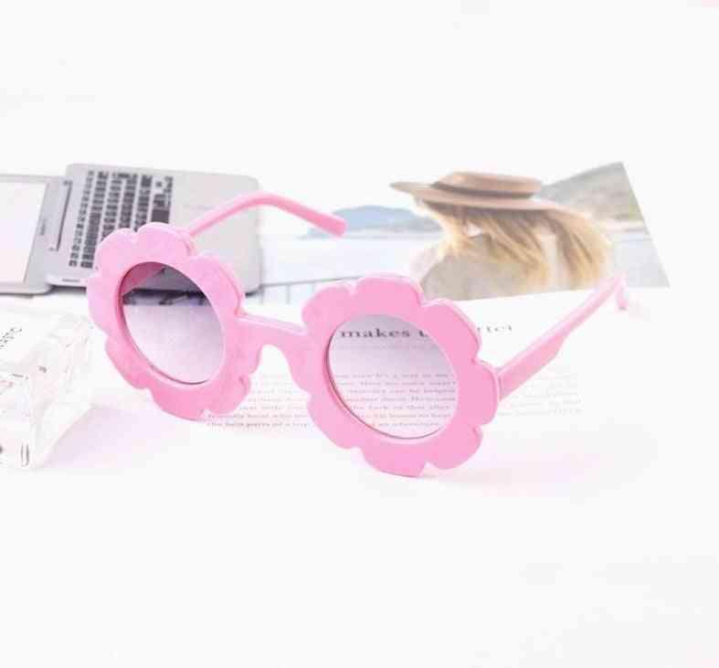 Uv400 Sun Flower Round Sunglasses For &