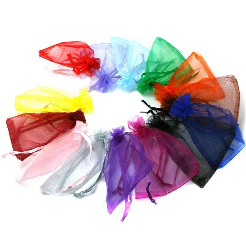Drawstring Organza Pouches, Jewelry Packaging Bags