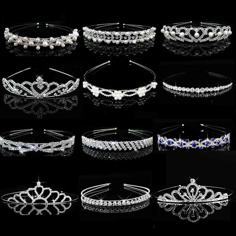 Princess Wedding Bridesmaid Tiara Crown, Headband, Hair Accessories