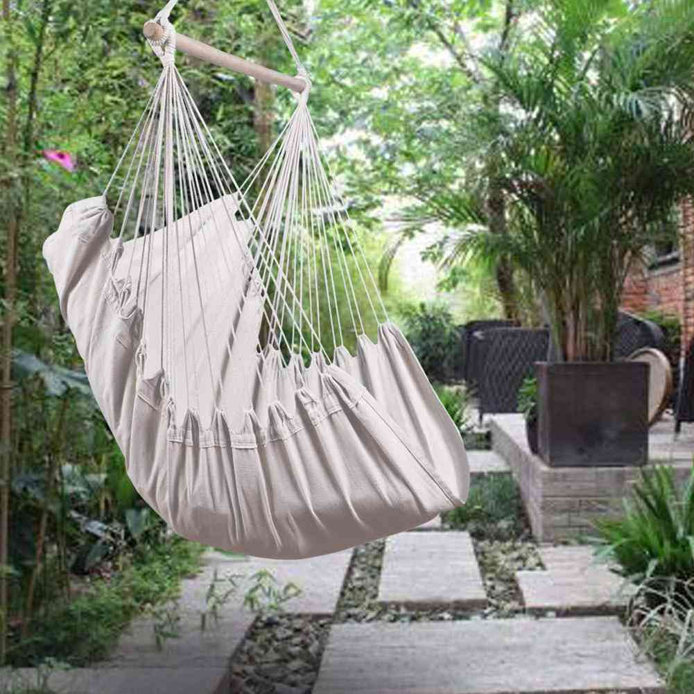 Portable Travel Camping Hammock Hanging Bed, Lazy Swing Outdoor Chair