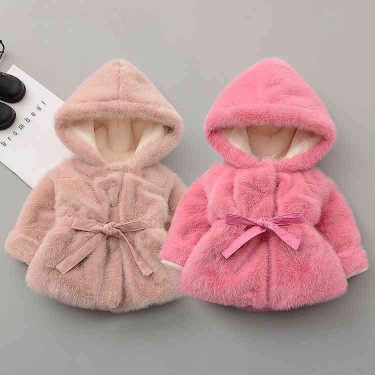 Winter Thicken Warm Jacket, Princess Wool Girl Hoodie