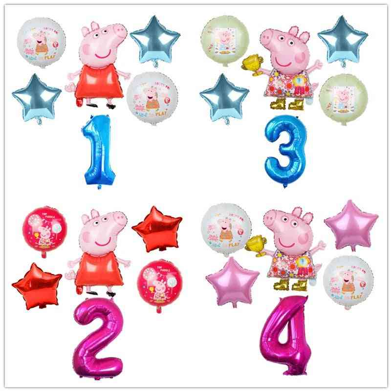 Cartoon Pig Foil Balloons Decorations
